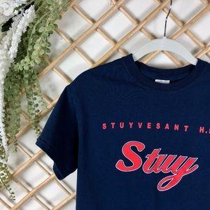 Tops - Brookyln Stuy Stuyvesant High Navy Tee Shirt